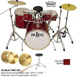 DR.BEAT Drums -  Two Master 522 Dark Red Sparkle