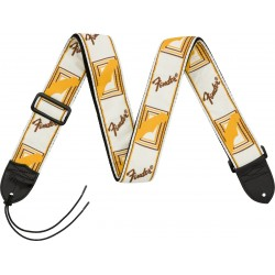 Fender Monogrammed Strap White/Brown/Yellow (Tracolla)