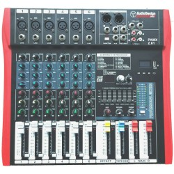 Audio Design - PAMX2.61 (Mixer con Effetti / USB / Bluetooth)