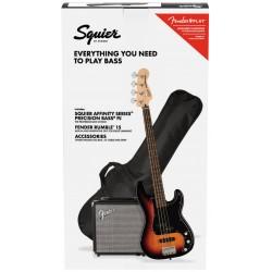 FENDER Affinity Precision PJ Bass LRL 3-Color Sunburst R15 Pack